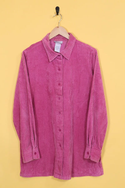 Loot Vintage Shirt Pink Cord Shirt Dress