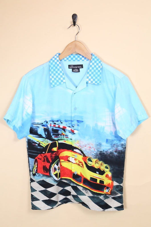 Men's Racing Car Shirt - Blue XS