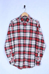 Loot Vintage Shirt Red Plaid Flannel Shirt