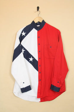 Loot Vintage Shirt Red, White & Blue Shirt