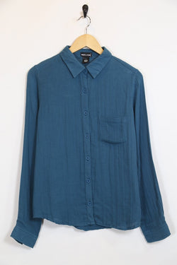 Women's Cotton Shirt - Blue M
