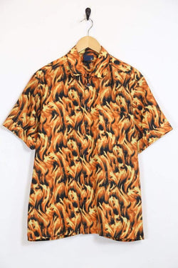 Loot Vintage Men's Flame Shirt - Orange S