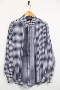 Loot VintageMen's Checked Wrangler Shirt - Blue L