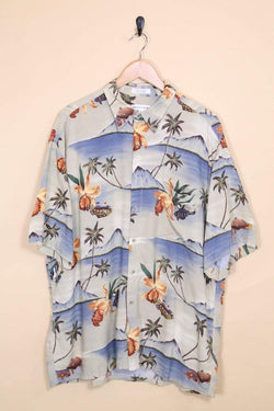 Loot Vintage Shirt Sunrise Print Hawaiian Shirt