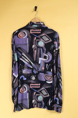 Loot Vintage Shirt Vintage Abstract Print Shirt