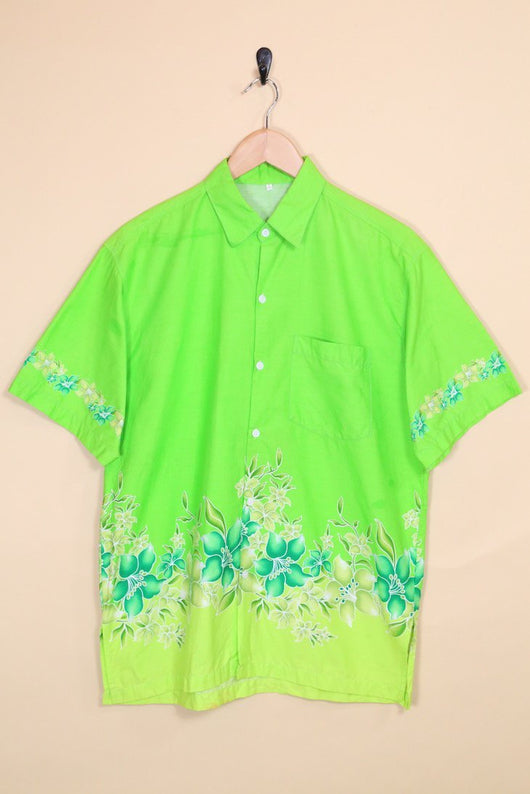 Loot Vintage Shirt Vintage Apple Floral Hawaiian Shirt