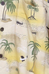 Men's Beach Days Hawaiian Shirt - Yellow XL