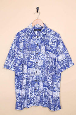 Loot Vintage Shirt Vintage Blue Printed Hawaiian Shirt