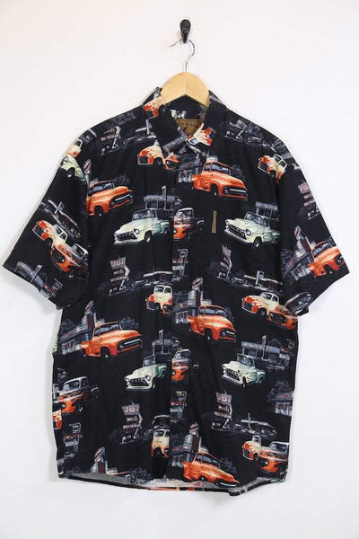 Loot Vintage Shirt Vintage Car & Motel Print Graphic Shirt