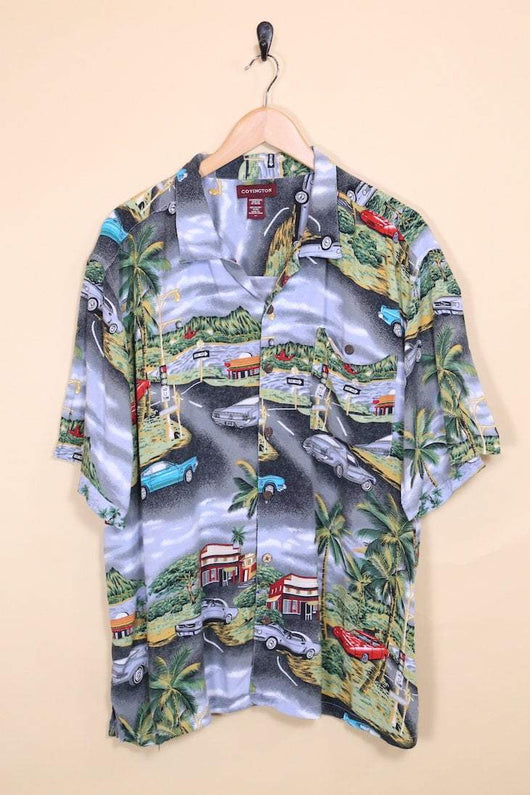 Loot Vintage Shirt Vintage Car Print Hawaiian Shirt