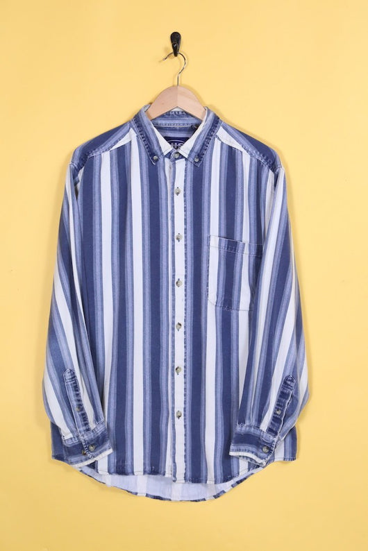 Loot Vintage Shirt Vintage Denim Tones Striped Shirt