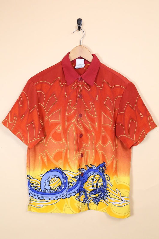 Loot Vintage Shirt Vintage Dragon Print Shirt