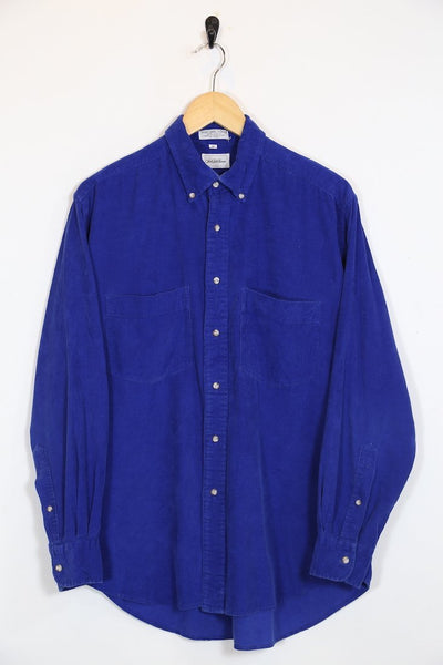 Loot Vintage Shirt Vintage Electric Blue Corduroy Shirt