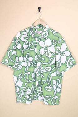 Loot Vintage Shirt Vintage Flower Print Hawaiian Shirt