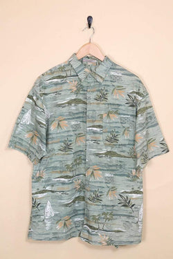 Loot Vintage Shirt Vintage Green Floral Hawaiian Shirt