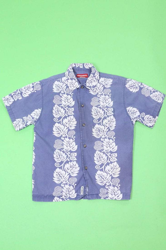 Loot Vintage Shirt Vintage Kids Blue Hawaiian Shirt