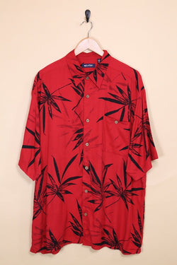 Loot Vintage Shirt Vintage Red Printed Hawaiian Shirt