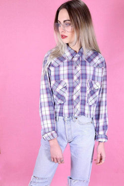 Reworked Checked Shirt - Blue L - Loot Vintage
