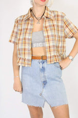 Loot Vintage Shirt Vintage Reworked Checked Shirt