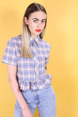 Reworked Pastel Shirt - Blue XS - Loot Vintage