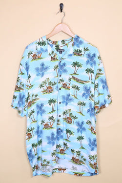 Loot Vintage Shirt Vintage Sky Blue Hawaiian Shirt