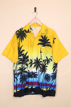 Loot Vintage Shirt Vintage Sunset Print Hawaiian Shirt
