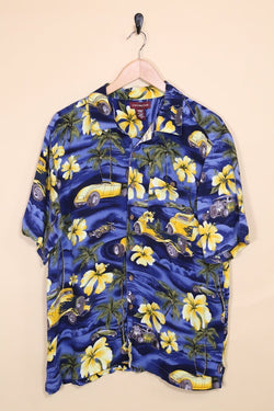 Loot Vintage Shirt Vintage Tropical Print Hawaiian shirt