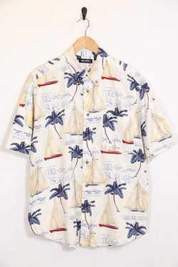 Loot Vintage Shirt Vintage White Hawaiian Shirt
