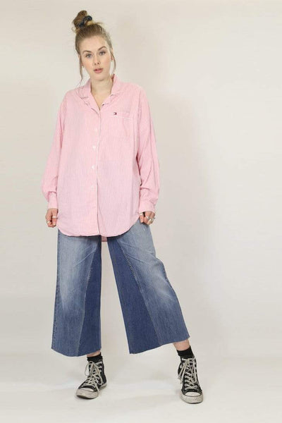 Loot Vintage Shirt XL / Pink / Cotton **Women's Tommy Hilfiger Pyjama Shirt - Pink XL