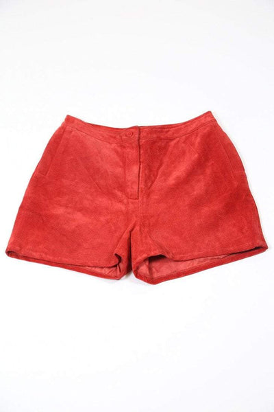 Loot Vintage Shorts Vintage Red Suede Shorts