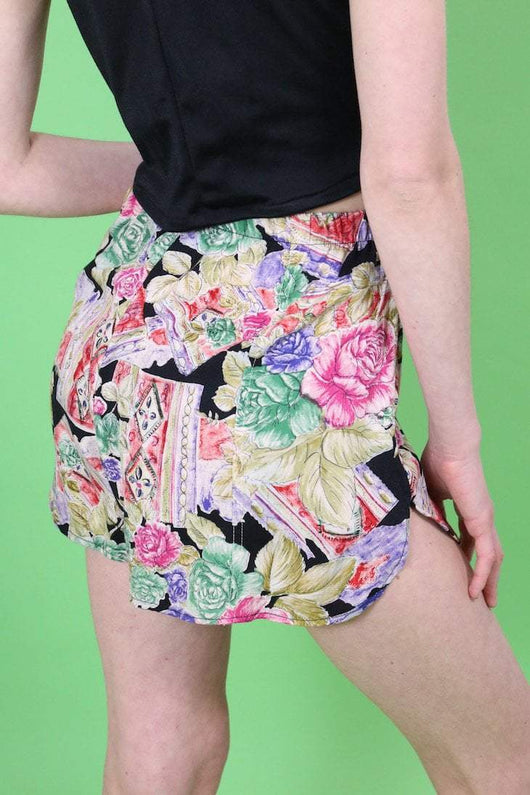 Loot Vintage Shorts Vintage Reworked Floral Shorts