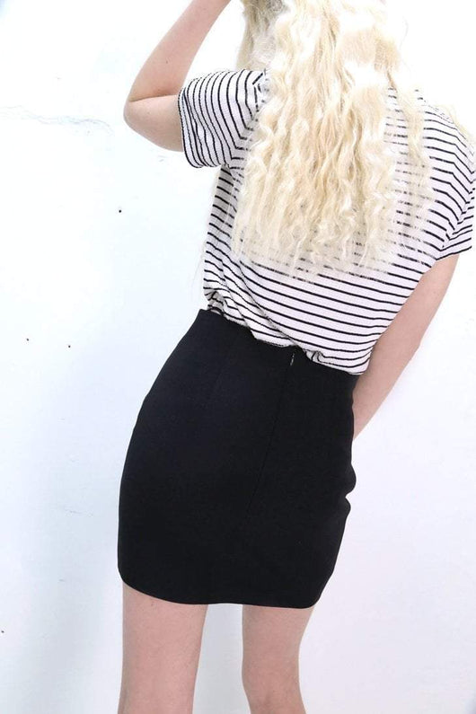 Loot Vintage Skirt 6 / Black Vintage Moschino Black Mini Skirt
