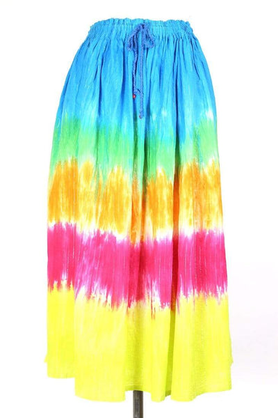 Loot Vintage Skirt L / Multi / Cotton Women's Tie Dyed Midi Skirt - Multi L