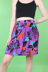 Loot Vintage Skirt Printed Mini Skirt