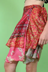 Loot Vintage Skirt Silk Wrap Skirt