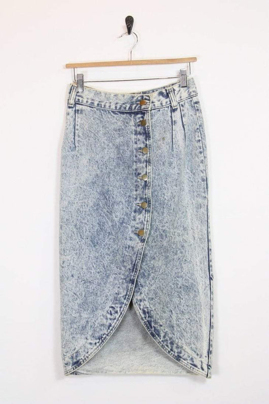 Loot Vintage Skirt Stonewash Denim Pencil Skirt
