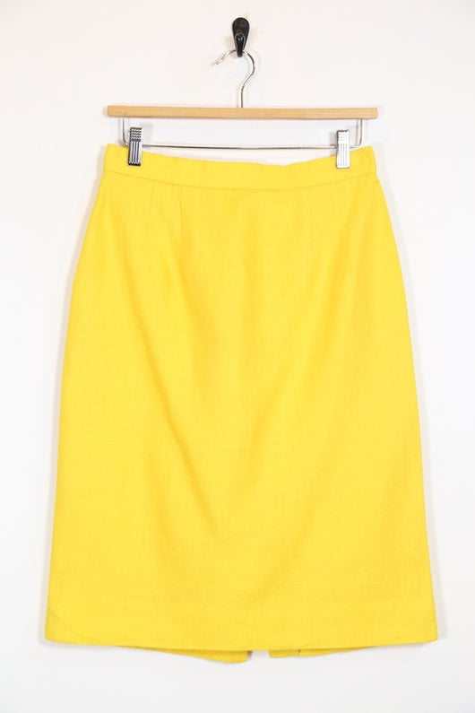 Loot Vintage Skirt Vintage 80's Yellow Midi Skirt