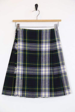 Loot Vintage Skirt Vintage Green Plaid Mini Skirt