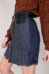 Loot Vintage Skirt Vintage Reworked Denim Skirt