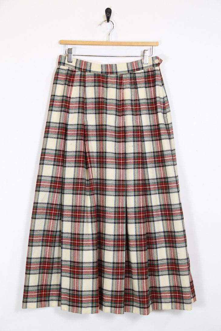 4980b67b40 Vintage Women's Tartan Maxi Skirt - Red S - M486