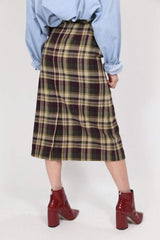 Loot Vintage Skirt Vintage Tartan Pencil Midi Skirt