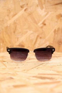 Loot Vintage Sunglasses Black Rectangle Clubmaster Sunglasses
