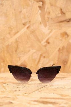 Loot Vintage Sunglasses Black Retro Cats Eye Sunglasses