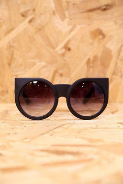 Loot Vintage Sunglasses Chunky Matt Black Winged Sunglasses