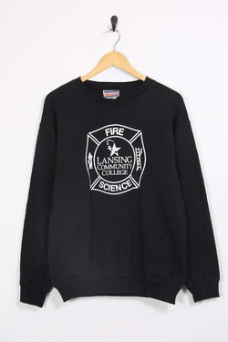 1990s Women's Graphic Sweatshirt - Black S