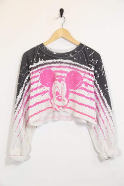 1990s Women's Reworked Disney Sweatshirt - White M