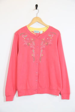 Loot Vintage Sweatshirt Vintage Floral Embroidered Sweatshirt