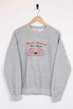 1990s Women's Embroidered Sweatshirt - Grey M