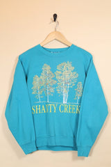 1990s Women's Graphic Sweatshirt - Blue S