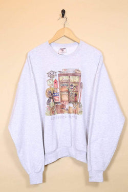 1990s Women's Gardener Graphic Sweatshirt - Grey XL